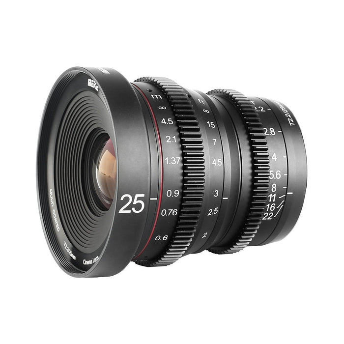 Meike T2.2 Series 3* Cine Lens Kit for MFT-Fast Delivery