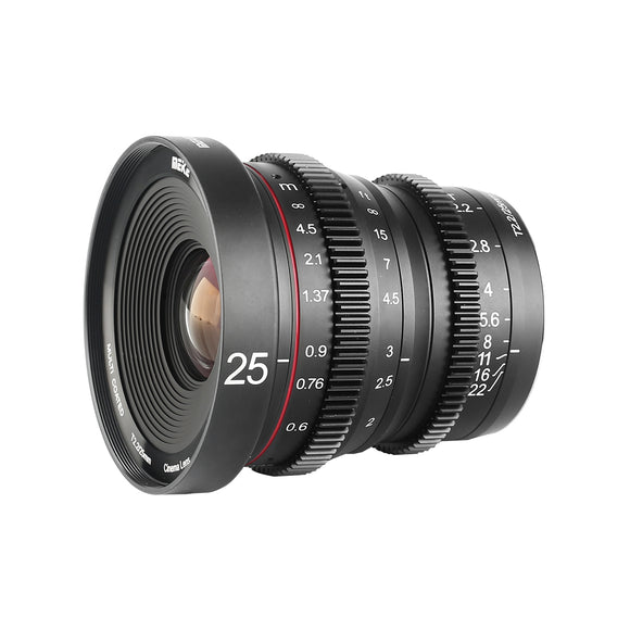 Meike T2.2 Cine lens Kit ( 3 Sony E Mount T2.2 LENS KIT 25mm 35mm 50mm/Cine lens Kit with MIC ) with a Cine Lens Case-Fast Delivery