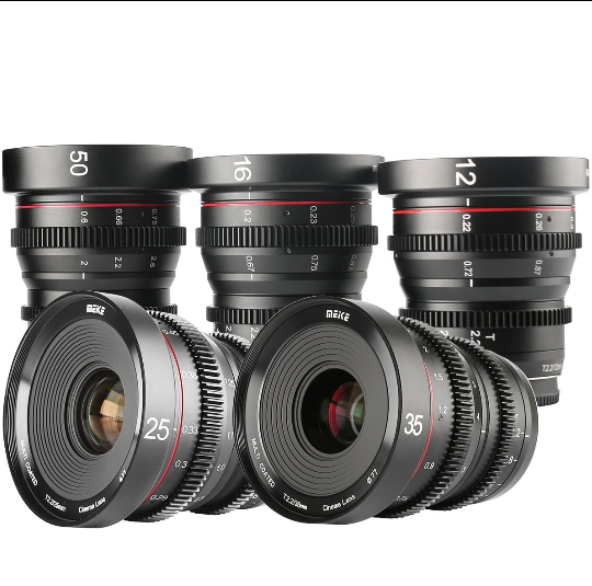 Meike T2.2 Series 5*Cine lens Kit for Sony E Mount -Fast Delivery
