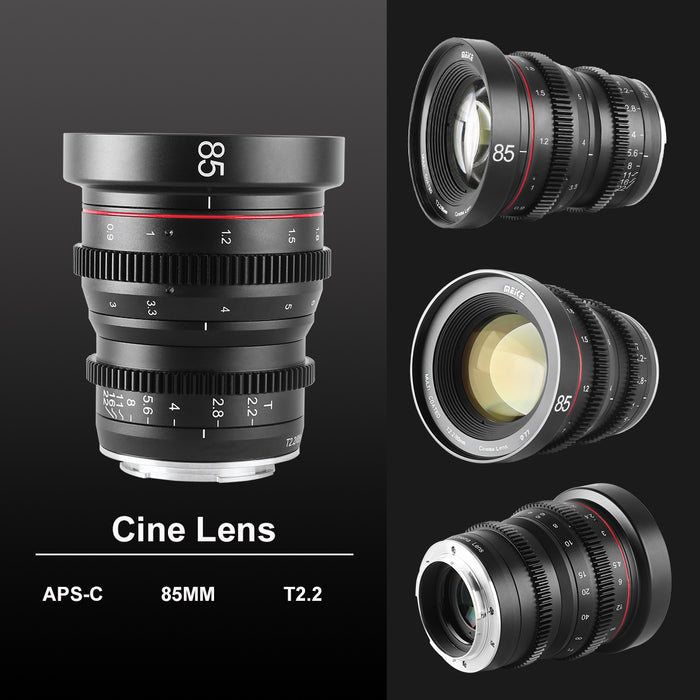 Meike Cine Lens 85mm T2.2 For Sony E Mount Cameras-Fast Delivery