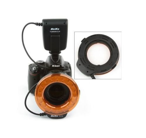 Meike FC-110 LED Macro Ring Flash Light for Nikon and Canon Cameras