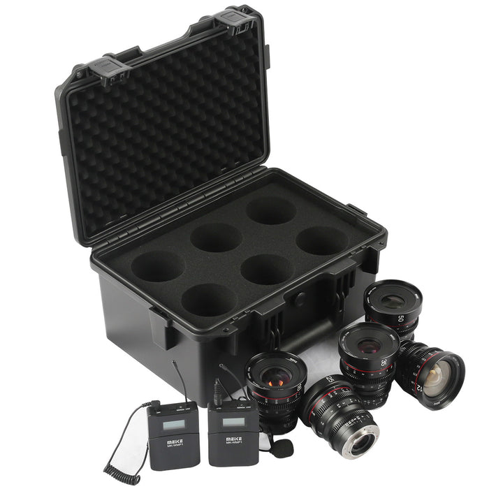 Meike T2.2 Series 5*Cine lens Kit for MFT +Cine Lens Case-Fast Delivery