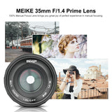 Meike MK-35mm F/1.4 APS-C Sony E-Mount Lens , Large Aperture Manual Focus-Fast Delivery