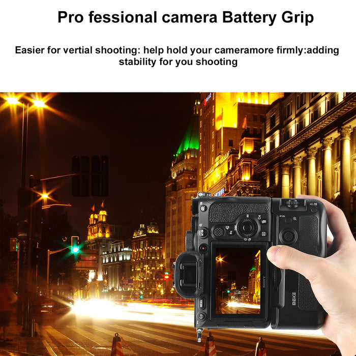 Meike MK-A7R4 Professional Vertical Shooting Hand Battery Grip for Sony A7IV A7M4 A7R4 A9II