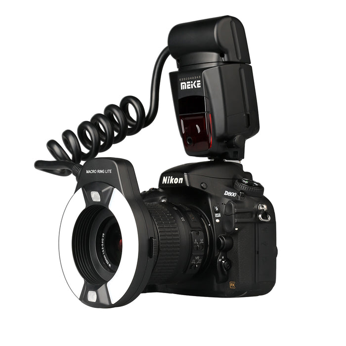 Meike 14EXT E-TTL Macro LED Ring Flash Speedlite with LED AF Assist Lamp for Canon EOS 5D II III 6D 7D 60D 70D 700D