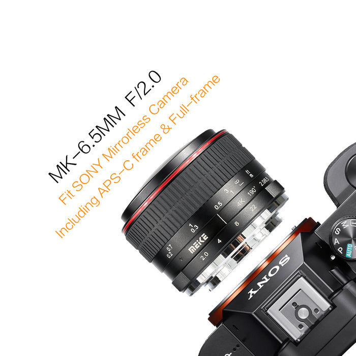Meike MK-6.5mm  f/2.0 Ultra Wide Circular Fisheyes Lens for Sony E-mount Mirorrless Cameras-Fast Delivery