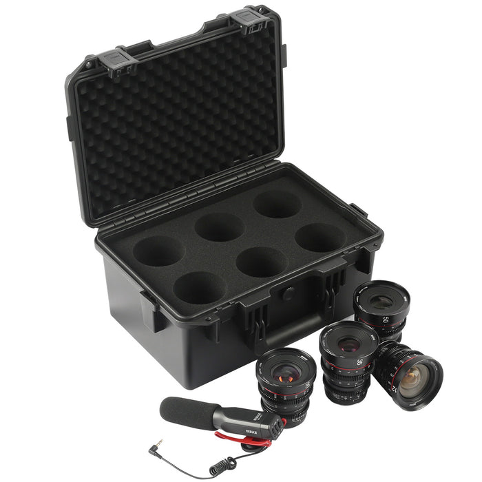 Meike T2.2 Series 4*Cine lens Kit for MFT(Optional:12mm 16mm 25mm 35mm 50mm 65mm 85mm)+Cine Lens Case-Fast Delivery