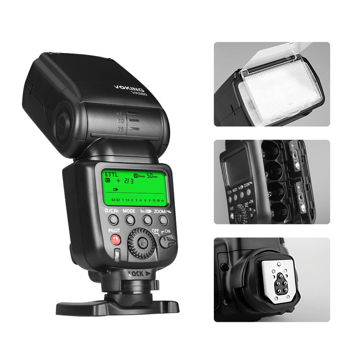 Voking VK580 E-TTL Flash Speedlite for Canon EOS 70D 77D 80D and Other Canon Digital SLR Cameras