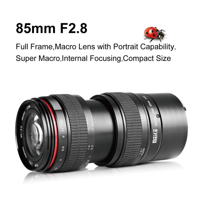 Meike 85mm F/2.8 Manual Focus for Fuji X-Mount Digital Mirrorless DSLR Cameras-Fast Delivery