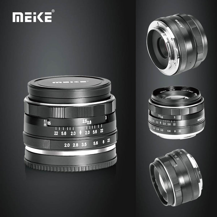 Meike MK-EM-50-2.0 50mm f 2.0 Large Aperture Manual Focus Lens APS-C for Canon EF-M Cameras EOS-M3/EOS-M2/EOS-M10/EOS-M with Voking Lens Cleaning Cloth-Fast Delivery