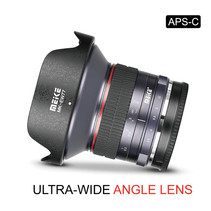 Meike 12mm f/2.8 Ultra Wide Angle Manual Fixed Lens for MFT Mount-Fast Delivery