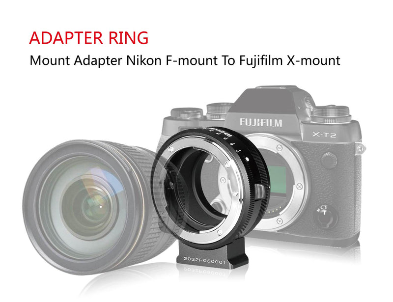 Meike MK-NF-F Mount Adapter Ring Professional Design for Nikon F-Mount Lens to Fuji Mirrorless X-mount Camera X-T1 X-T2 X-Pro1