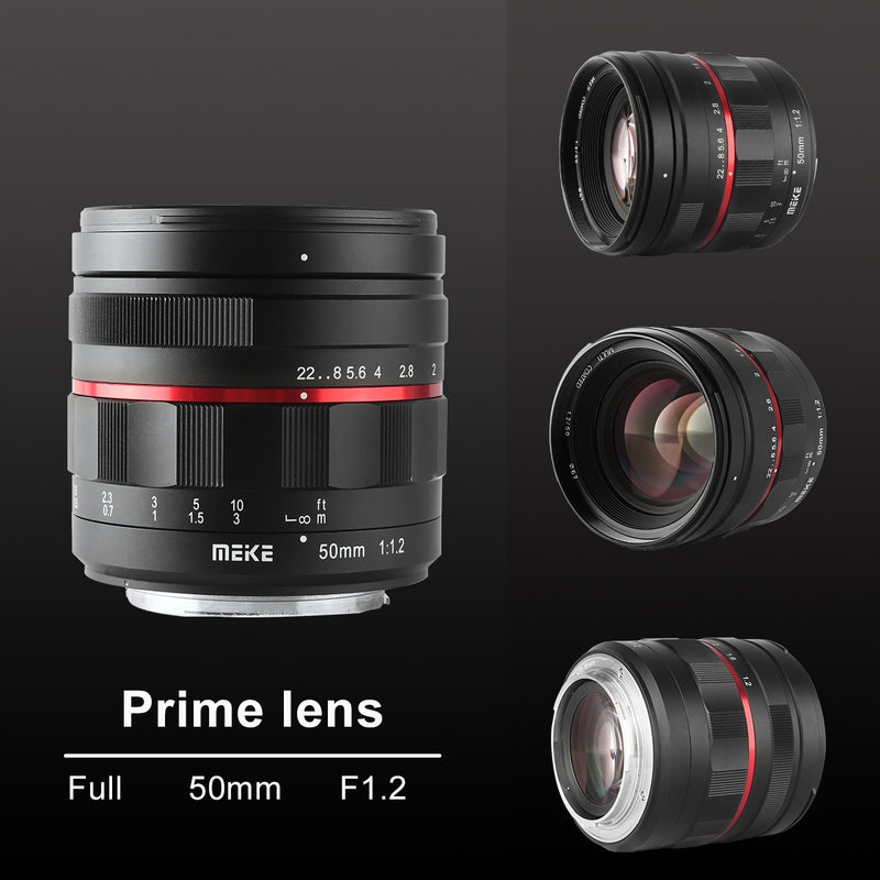 Presale:Meike 50mm F1.2 Large Aperture Manual Focus Lens for Canon EOS EF Mount-Fast Delivery
