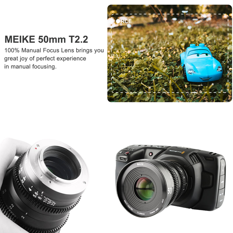 Meike 50mm T2.2 Cine lens for MFT-Fast Delivery