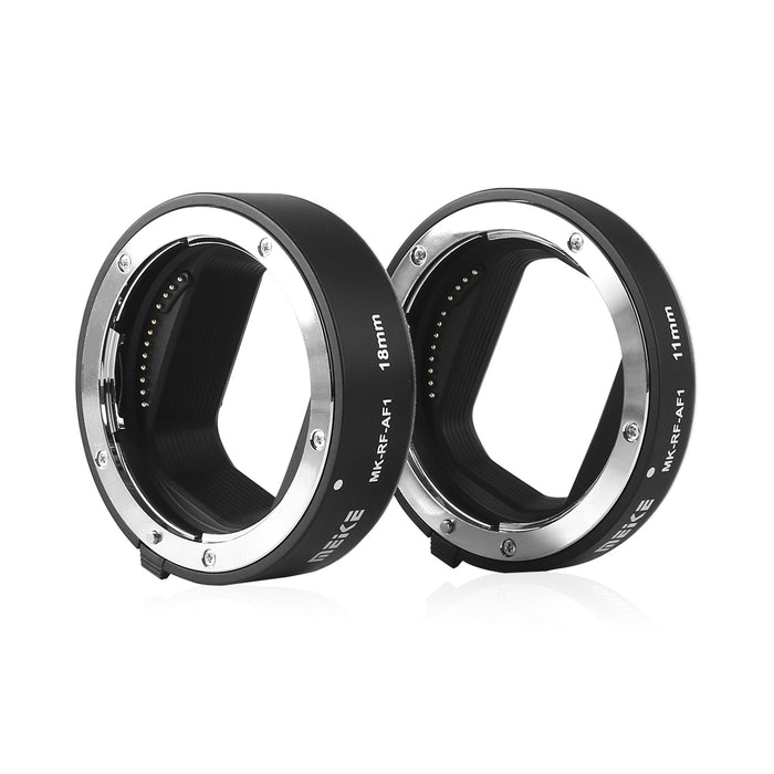 Meike MK-RF-AF1 11mm + 18mm Metal AF Full Frame Macro Extension Tube Adapter Ring Kit for for Canon EOS-R Series Cameras