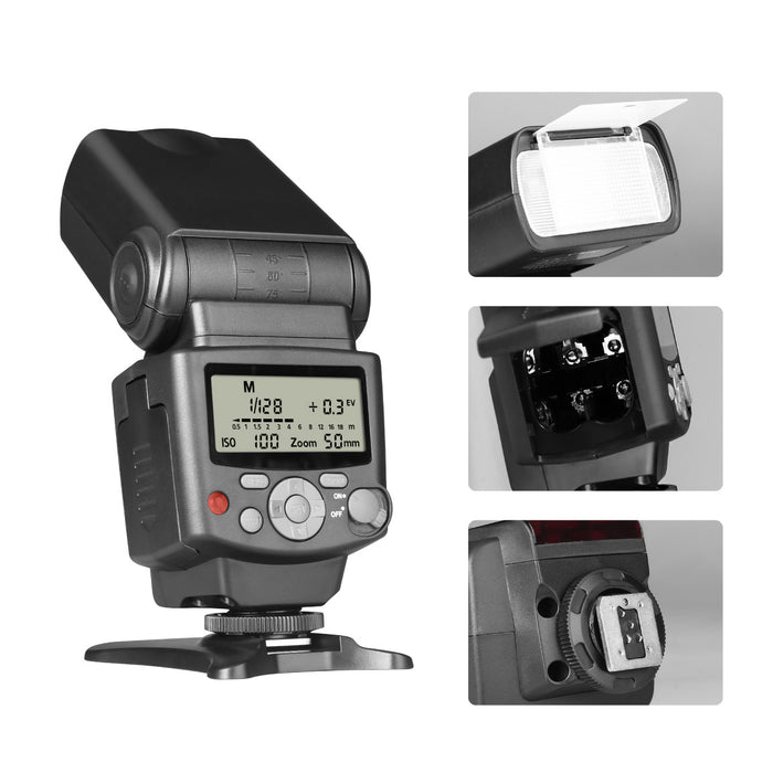Voking VK430 I TTL Speedlite LCD Display Shoe Mount Flash for Nikon D3400 D3300 D3200 D5600 D850 D750 D7200 D5300 D5500 D500 D7100 D3100 and Other Digital DSLR Cameras