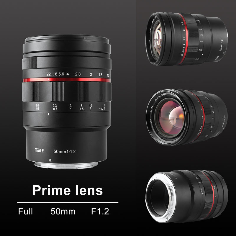 Presale:Meike 50mm F1.2 Large Aperture Manual Focus Lens for Nikon Z Mount-Fast Delivery