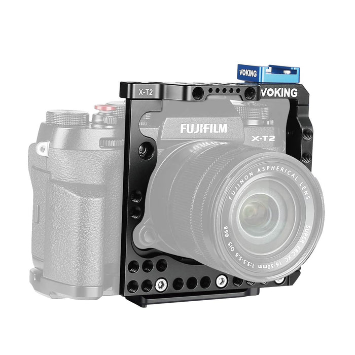 Voking Aluminum Alloy VK-XT2C Camera Video Cage with Detachable Quick Release Plate fits Fujifilm X-T2