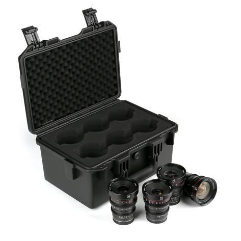 Meike T2.2 Series 4*Cine lens Kit for MFT(8mmT2.9 included) +Cine Lens Case-Fast Delivery