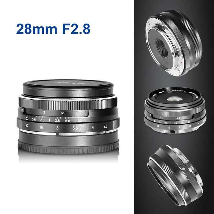 Meike 28mm f/2.8 Fixed Manual Focus Lens for MFT Mount-Fast Delivery