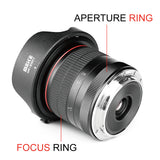 Meike 8mm f/3.5 Ultra Wide Angle Fisheye Lens for All Canon EOS EF Mount DSLR Cameras EOS 70D 77D 80D Rebel T7i T6i T6s T6 T5i T5 T4i T3i SL2,etc