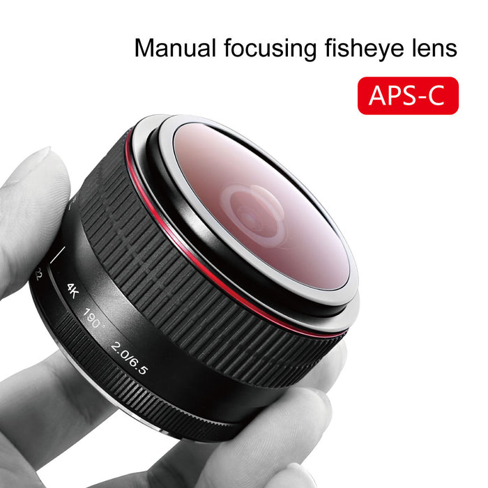 Meike 6.5mm f/2.0 Ultra Wide Circular Fisheye Lens for Canon EOS-M-Fast Delivery
