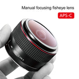 Meike 6.5mm Ultra Wide f/2.0 Circular Fisheye Lens for Canon EOS-M Mirorrless Camera M100 M10 M6 M5 M3 M2