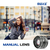 Meike MK-50mm f/2.0 Manual Focus Lens for Sony E Mount Mirrorless Cameras