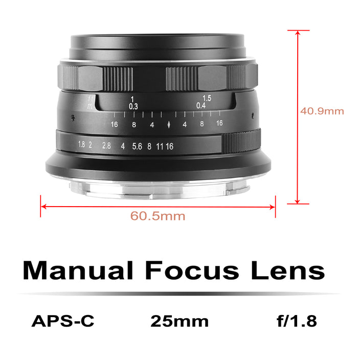 Meike 25mm F1.8 for Nikon Z Mount Cameras-Fast Delivery
