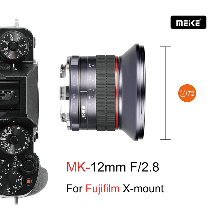 Meike 12mm f/2.8 APS-S Ultra Wide Angle Lens with for Nikon Z-Mount Mirroless Camera Z50 and Compatible with Z5 Z6 Z7 on APS-C Mode