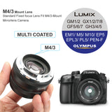 MK-35mm F1.4 Large Aperture Manual Focus Prime Lens for Micro Four Thirds M43 MFT Cameras and BMPCC-Fast Delivery