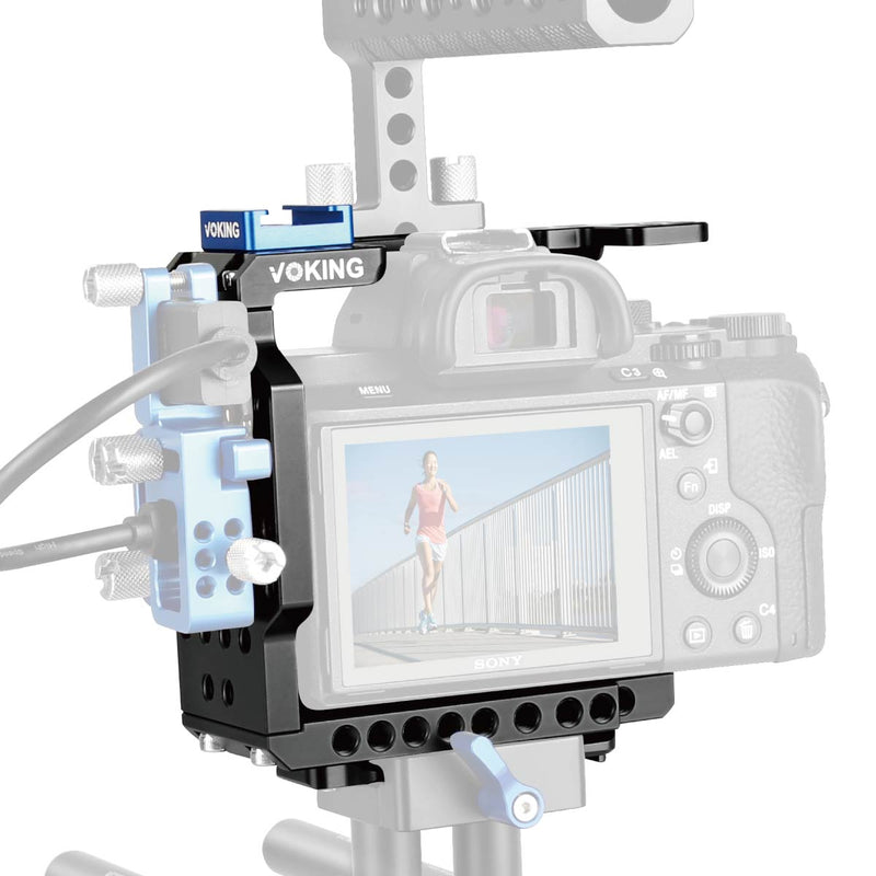 Voking Aluminum Alloy VK-5D4C Camera Video Cage with Detachable Quick Release Plate for Canon 5D3 5D4
