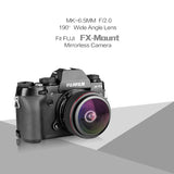 Meike MK-6.5mm f/2.0 Ultra Wide Circular Fisheye Lens for Fujifilm X Mount Mirrorless Cameras