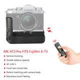 Meike MK-XT3 Pro Vertical Shooting Power Pack Battery Grip for Fujifilm X-T3 with 2.4G Hz Wireless Remote Control + Gift with TTL Cord
