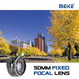 Meike MK-EM-50-2.0 50mm f 2.0 Large Aperture Manual Focus Lens APS-C for Canon EF-M Cameras EOS-M3/EOS-M2/EOS-M10/EOS-M with Voking Lens Cleaning Cloth