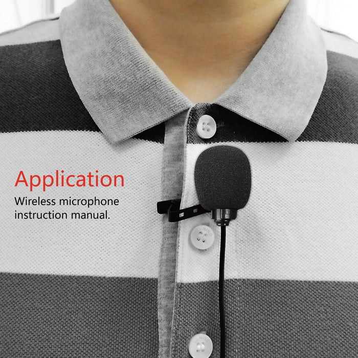 Meike MK-WMP1 UHF Wireless Omni-Directional Lavalier Microphone with 6 Channels for Canon Nikon Sony or Other DSLRs Video Cameras