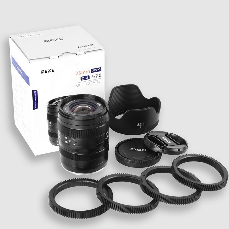 Meike 25mm F2.0 Wide Angle Maunal Lens for MFT Mount-Fast Delivery