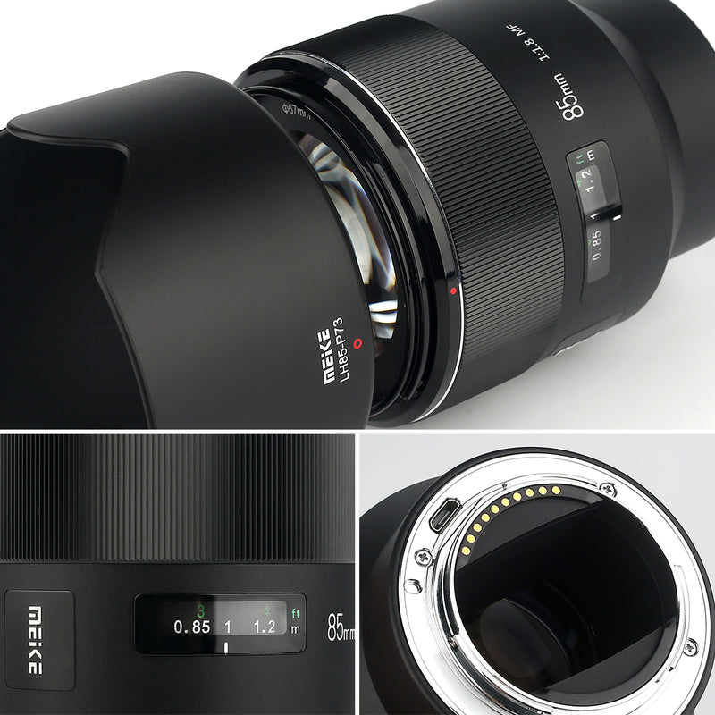 Meike MK-85mm F/1.8 Full Frame SONY E FE mount Lens Support Electronic Automatic Aperture & EXIF Information Transmission-Fast Delivery