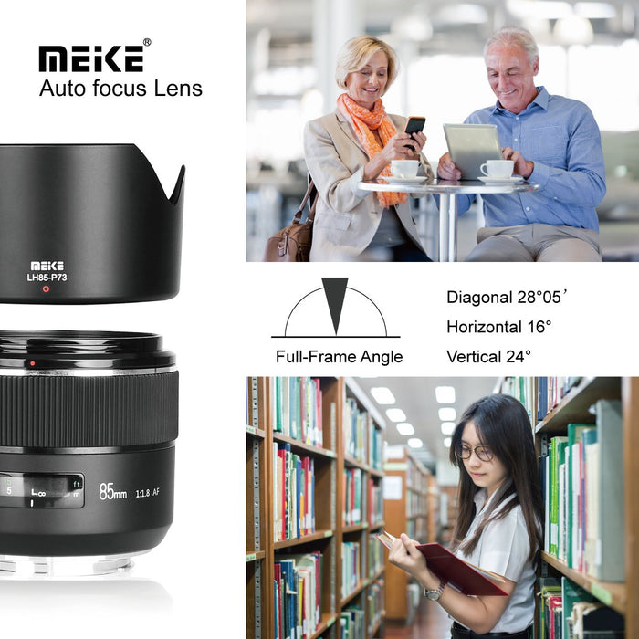 Meike 85mm F/1.8 Full Frame AF Lens for Nikon-F Mount-Fast Delivery