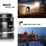 Meike MK-E-35-1.7 35mm F1.7 Large Aperture Manual Prime Fixed Lens APS-C for Sony E-Mount Digital Mirrorless Cameras A7III A9 NEX 3 3N 5 NEX 5T NEX 5R NEX 6 7 A6400 A5000 A5100 A6000 A6100 A6300 A6500