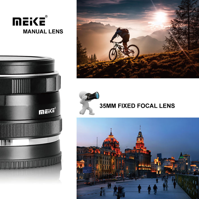 Meike 35mm F1.7 Manual Prime Fixed Lens for Nikon 1 Mount-Fast Delivery