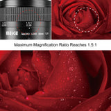 Meike 85mm F/2.8 Manual Focus Aspherical Medium Telephoto Prime Macro Lens with Portrait Capability for Fuji X-Mount Digital Mirrorless DSLR Cameras