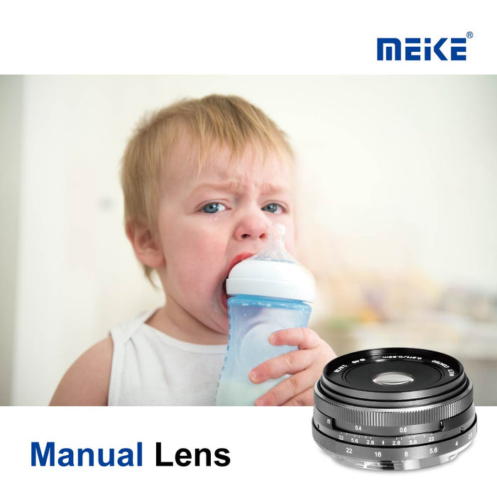 Meike 28mm f/2.8 APS-C Fixed Manual Focus Lens for Fujifilm X Mount-Fast Delivery