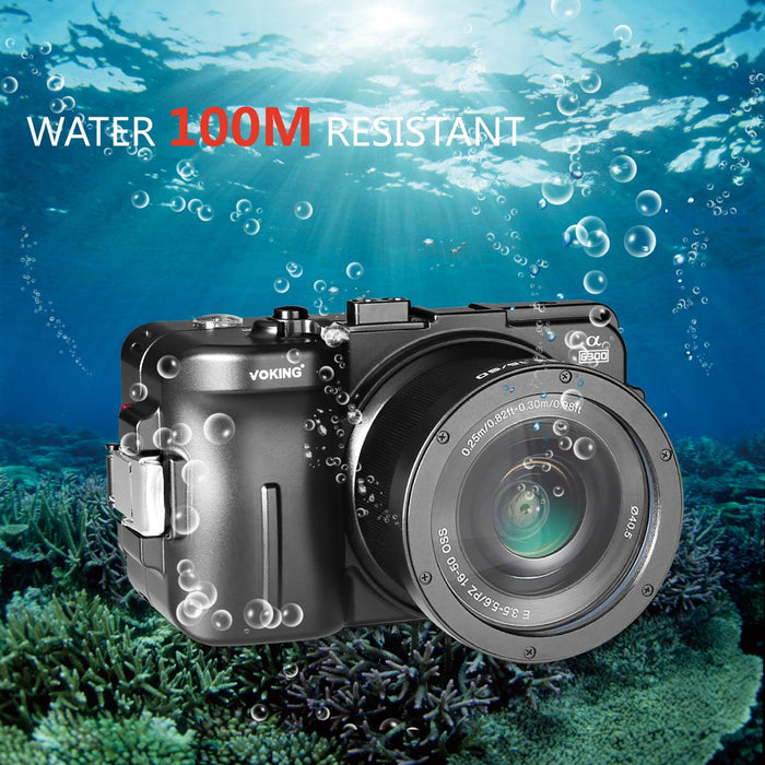 Voking VK-WPC-A6300 Professional waterproof camera case Protective Housing for Sony A6300