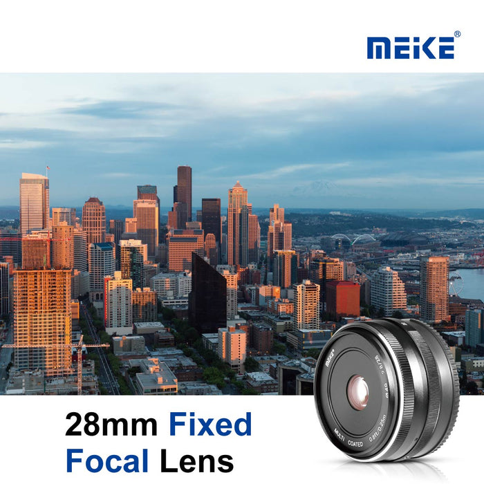 Meike 28mm f/2.8 Fixed Manual Focus Lens for Sony E Mount-Fast Delivery