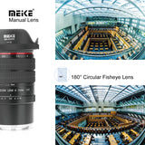 Meike 6-11mm F3.5 Zoom Manual Focus Wide Angle Lens for Sony E-Mount Mirrorless Camera A7III A9 NEX 3 3N 5 NEX 5T NEX 5R NEX 6 7 A6400 A5000 A5100 A6000 A6100 A6300 A6500