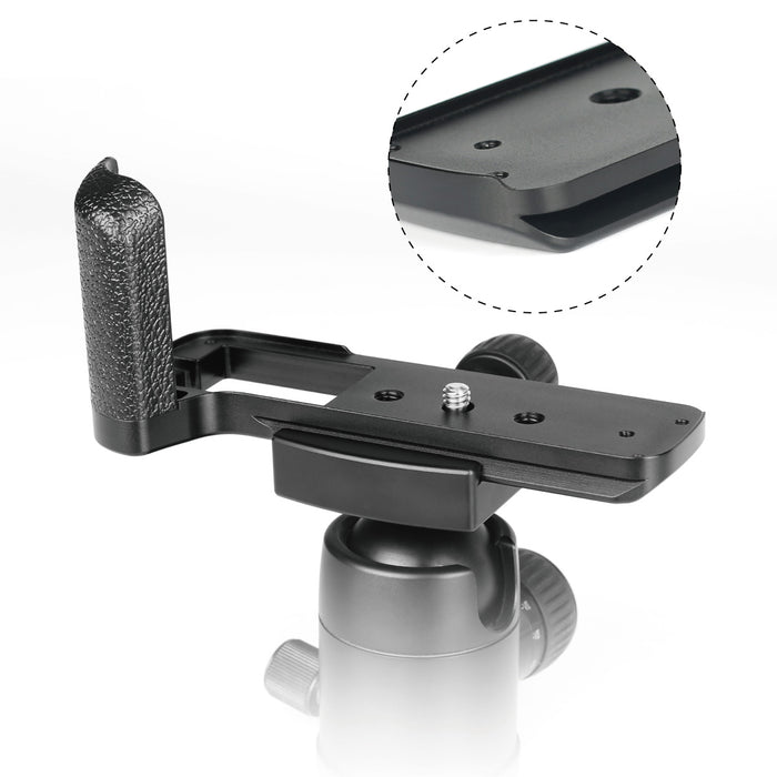 Meike XT3G Aluminum Alloy Hand Grip Quick Release Plate L Bracket MHG-XT3 Replacement for Fujifilm X-T3