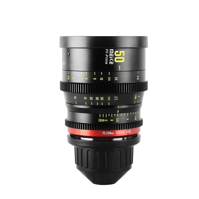 Meike Prime 50mm T2.1 Cine Lens for Full Frame Cinema Camera Systems,
