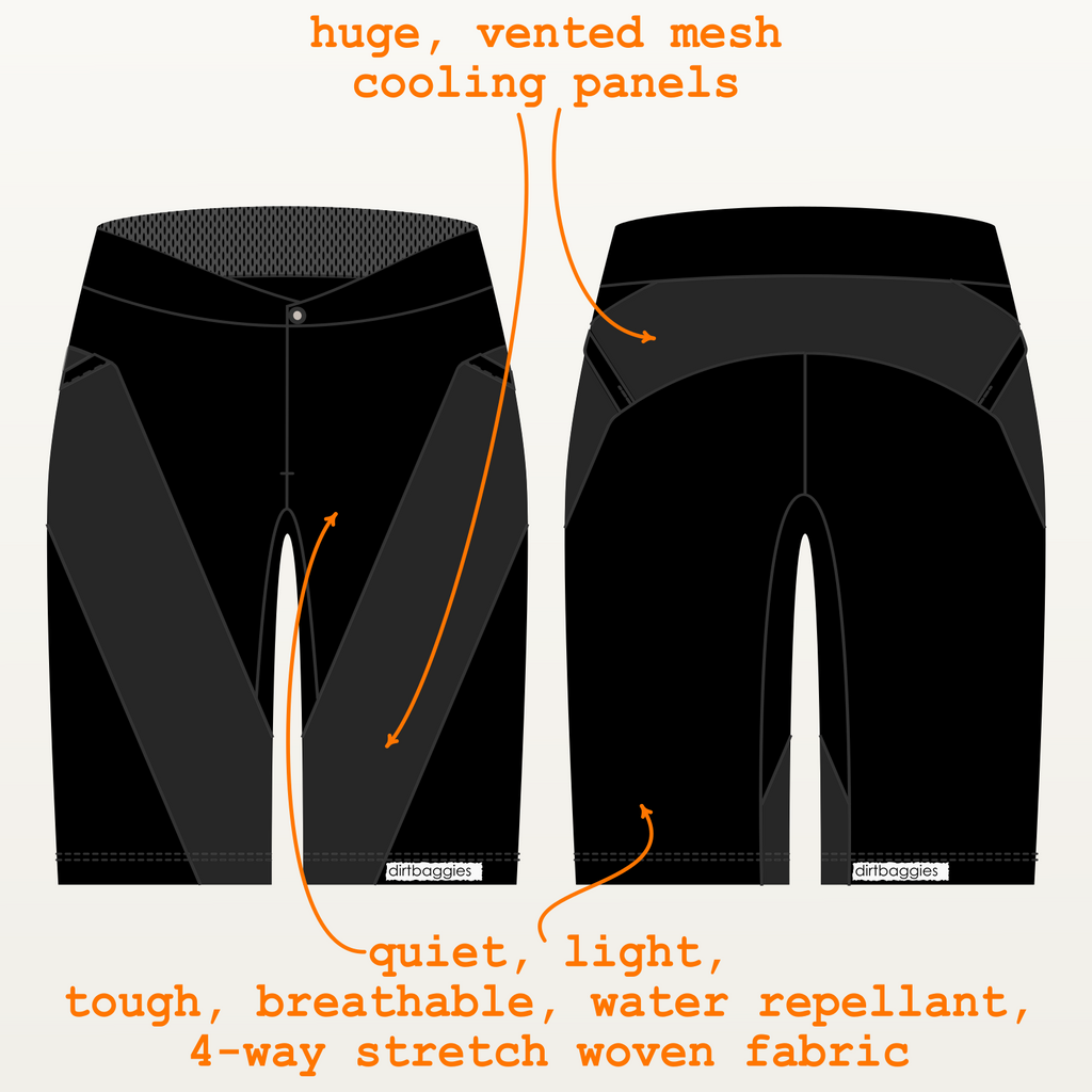 BREEZE | Baggy Mountain Bike Shell Short