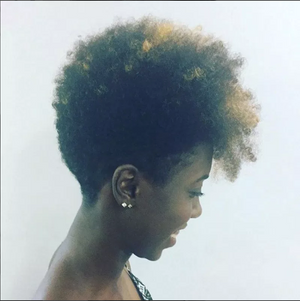 Natural hair cut with color